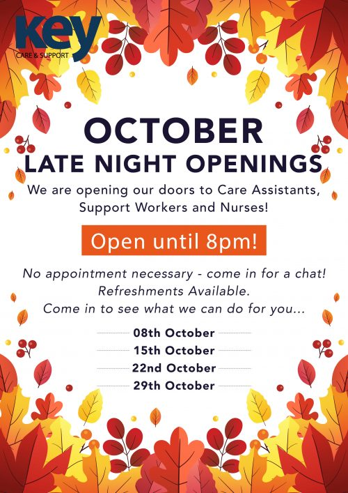 October Late Night Openings!